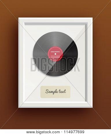 vinyl disk retro design music award eps 10