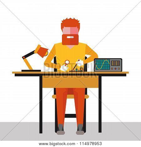 Illustration  Repair Of Electronics