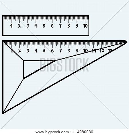 Rulers in millimeters
