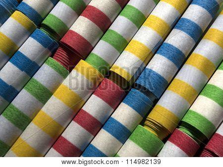 Colorful Flings in Rows