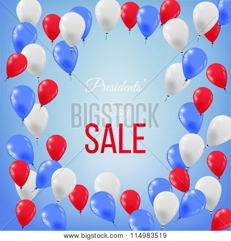 Banner for Presidents' Day Sale in USA