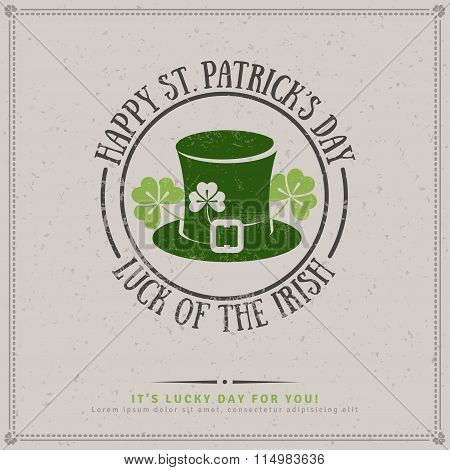 Patrick's Day Greeting Card