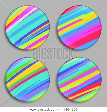 Rainbow. Color Buttons. Vector