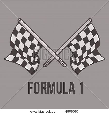 Racing flags isolated on light background