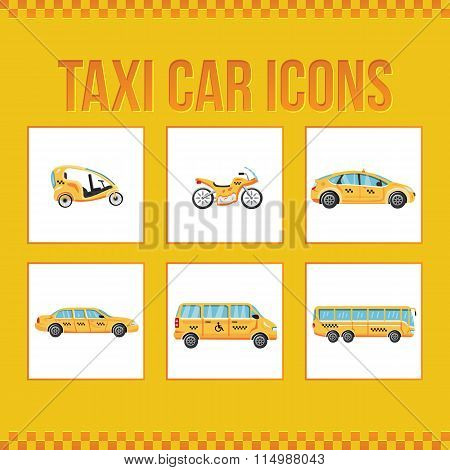 Set of taxi icons for web sites, presentations and printing.