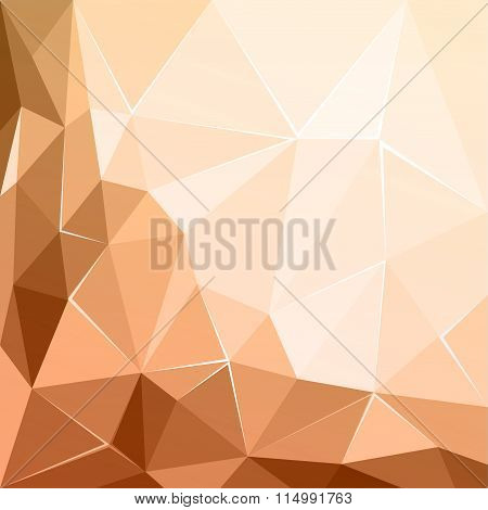 Abstract polygonal geometric facet brown ecru background