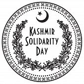 Celebration in Pakistan February 5 Kashmir Solidarity Day. The print rubber stamp. poster