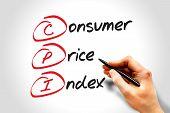 CPI - Consumer Price Index acronym business concept poster