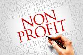 Non Profit word cloud social concept presentation background poster