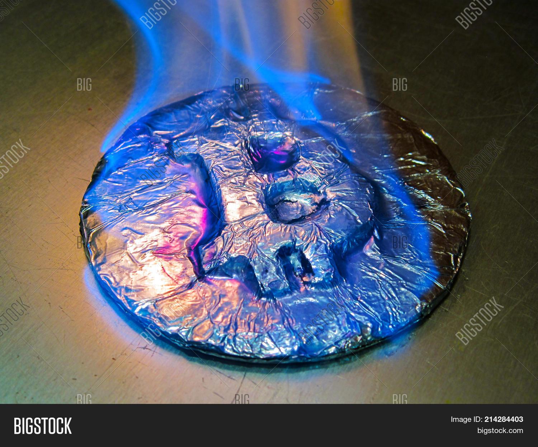Bitcoin Metal Silver Image Photo