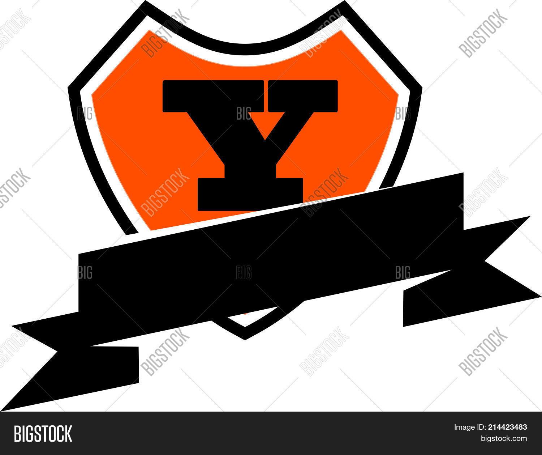 Shield Ribbon Letter Y Logo Design Template Vector