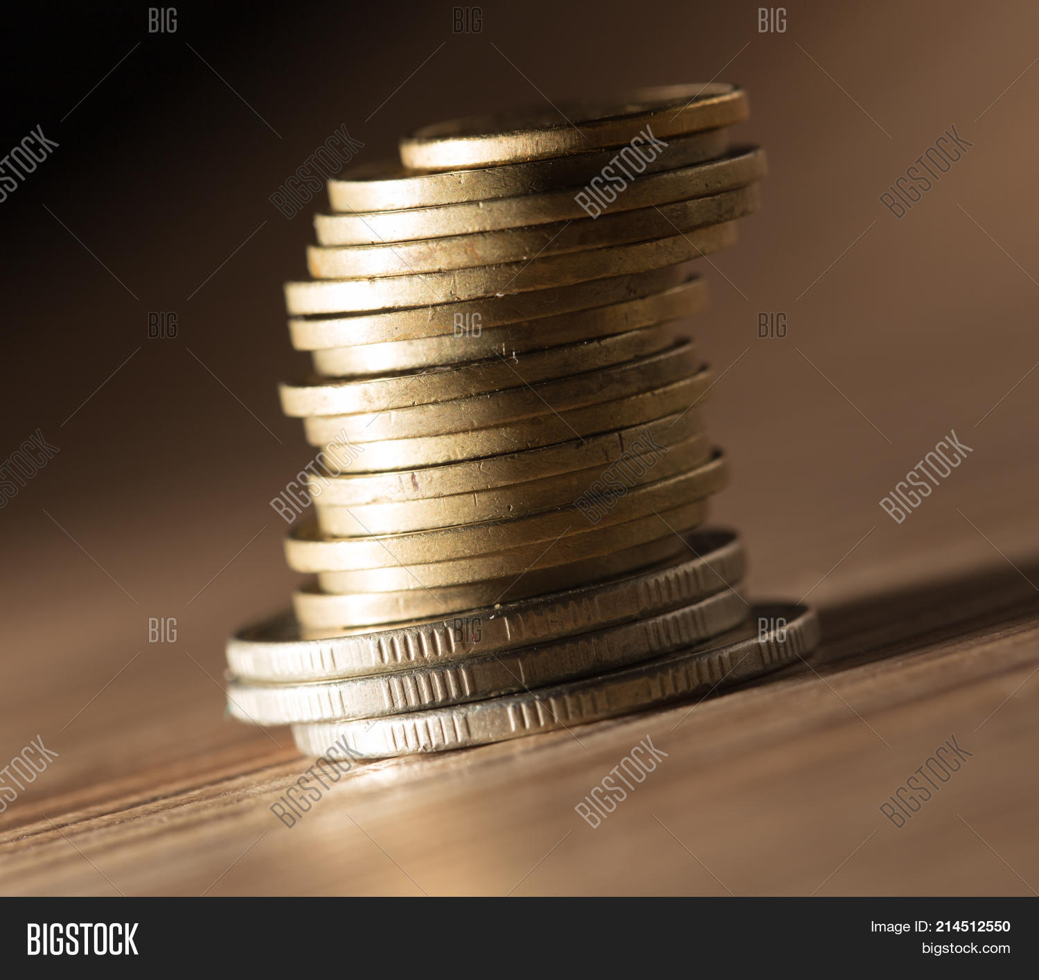 Coins On Table  Close Image & Photo (Free Trial) | Bigstock
