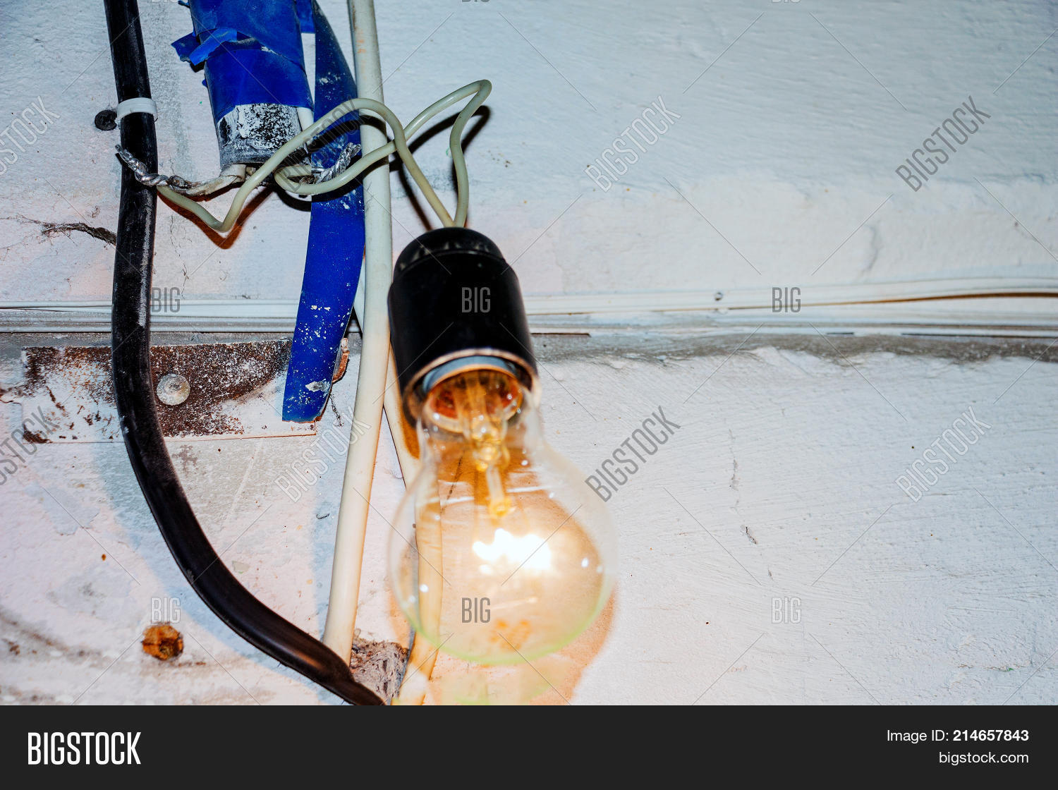 Bad Electrical Wiring Image Photo Free Trial Bigstock Connection Dangerous With An Incandescent Lamp