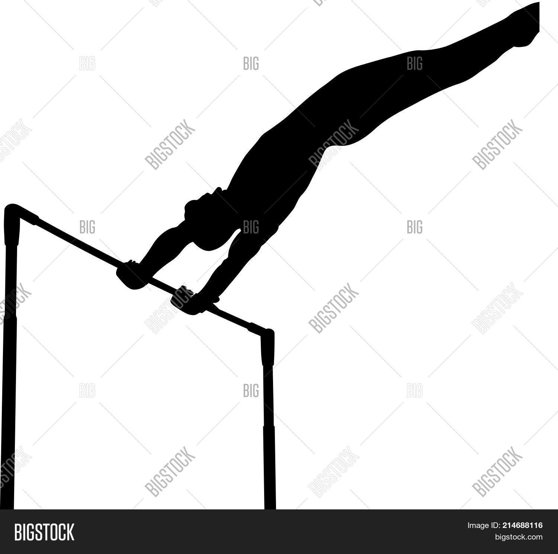 horizontal bar gymnast in artistic gymnastics black silhouette vault33 silhouette