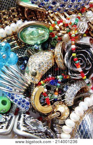 feminine beautiful accessory set as background .