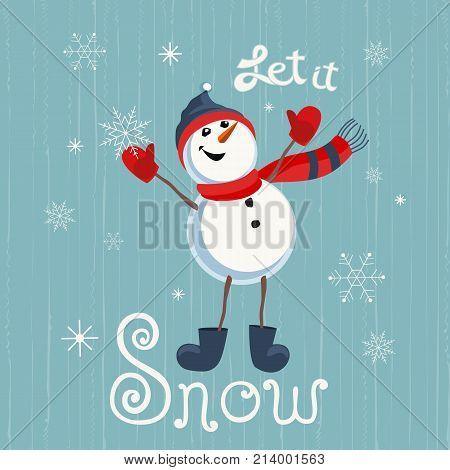 Holiday wishes let vector photo free trial bigstock holiday wishes let it snow hand drawn lettering fancy letters cartoon playful fun spiritdancerdesigns Gallery