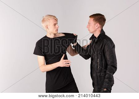 Two young guys find out the relationship through a fight. Isolation.