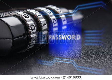 The Concept Of Protecting Personal Information, Password.