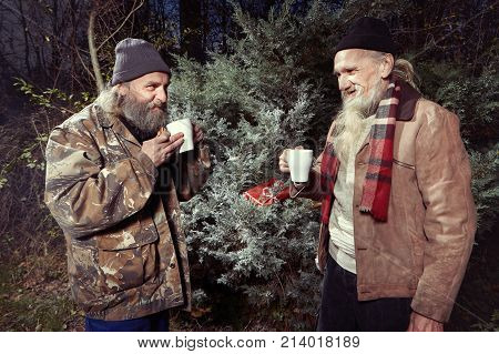 Two Homeless Older Men Image Photo Free Trial Bigstock