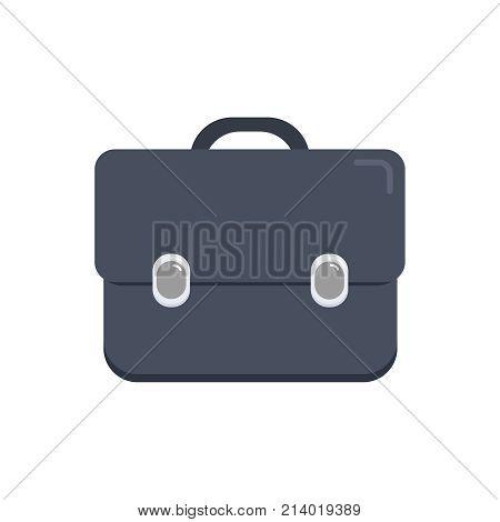 Business portfolio concept. Portfolio icon on the isolated white background. Logo, flat vector illustration
