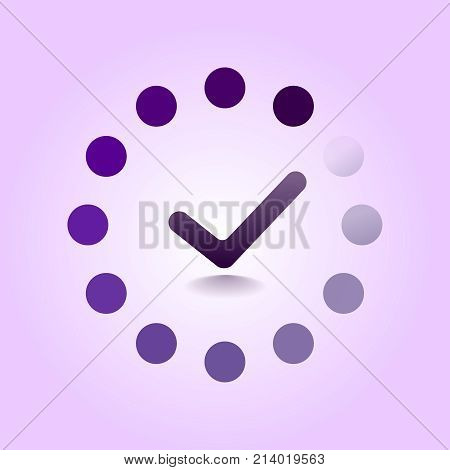Load completed progress bar icon. Web Preloader. Loading icon. Flat design vector illustration