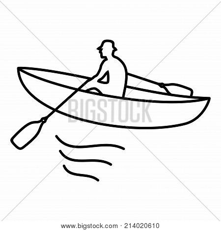 Boat Boatman Oar Man Water River Sea