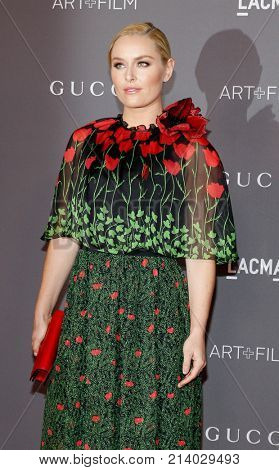 Lindsey Vonn at the 2017 LACMA Art + Film Gala held at the LACMA in Los Angeles, USA on November 4, 2017.