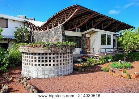 Santa Cruz, Ecuador -april 23: Charles Darwin Research Station On Santa Cruz Island On April 23, 201