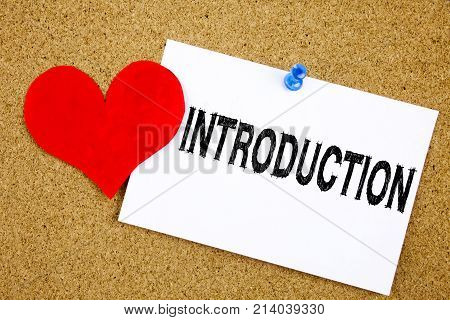 Conceptual Hand Writing Text Caption Inspiration Showing Introduction Concept Meaning Love Firs Expe