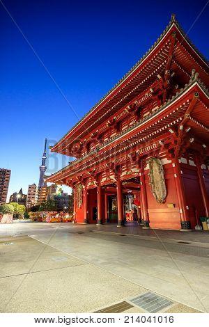 Sensoji Temple In Tokyo, Japan.
