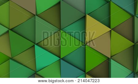 Pattern Of Green Triangle Prisms