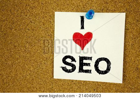 Conceptual Hand Writing Text Caption Inspiration Showing Seo Search Engine Optimization. Business Co