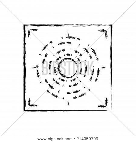 figure gun sight circle with shooting focus vector illustration
