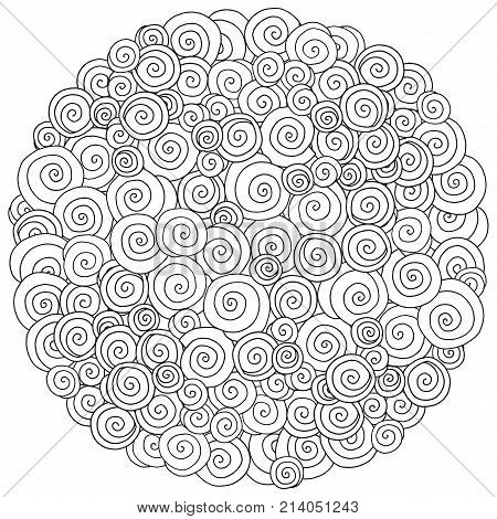 Pattern For Coloring Book. Artistically Ethnic Pattern.