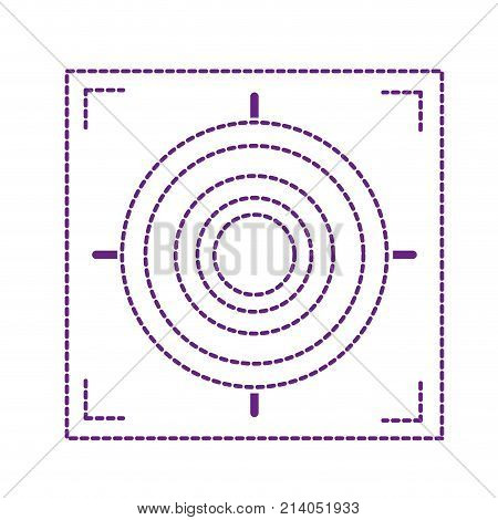dotted shape gun sight circle with shooting focus vector illustration
