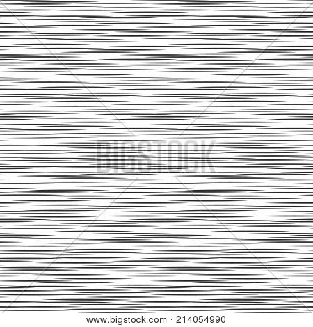 Black And White Geometric Pattern. Seamless Abstract Background. Vector Stripe, Lines. Horizontal Sp