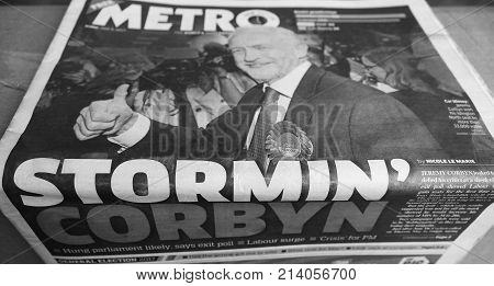 Newspapers Showing Jeremy Corbyn Black And White