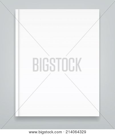 Hard cover blank realistic book, closed organizer or photobook mockup