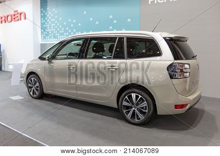 ATHENS, GREECE - NOVEMBER 14, 2017: Citroen C4 II Grand Picasso at Aftokinisi-Fisikon 2017 Motor Show.