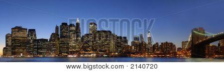 Eastern Manhattan Skyline Pano