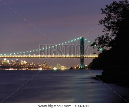 Gwb And Nyc Sunset 001