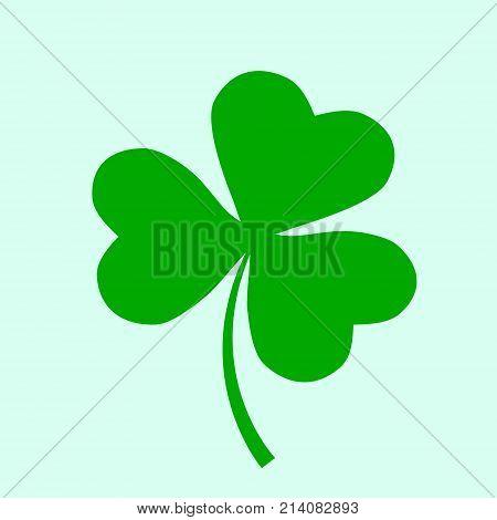 Irish Holiday. Saint Patricks Day. Leaves Clover. Vector Illustration. Irish Shamrock .