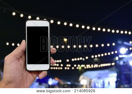 Online banking with mobileShopping online by smart phone and shopping in super marketPeople are playing smart phone on line social network in restaurant