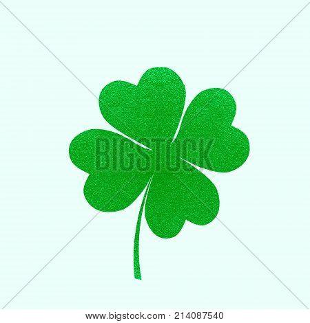 Irish Holiday. Saint Patricks Day 4 Leaves Clover. Vector Illustration .