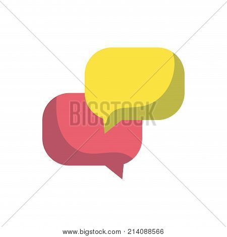 chat bubbles message text notes vector illustration