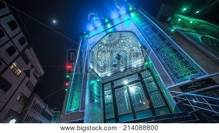 Bright islam church at the city Teheran