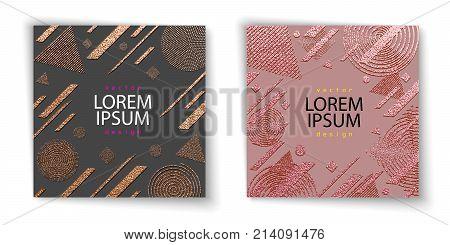 Modern And Stylish Minimal Design. Copper Glossy Background. Metallic Texture. Bronze Metal Texture.