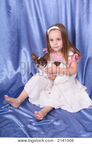 Girl And Chihuahua