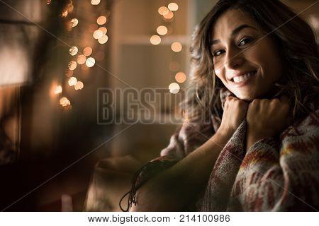 Woman Christmas Time