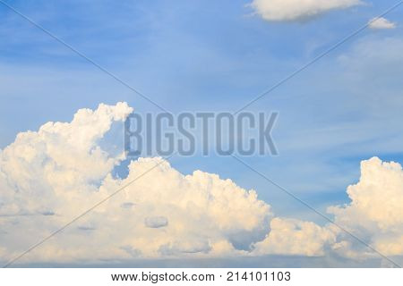 Clouds and blue at dusk for background